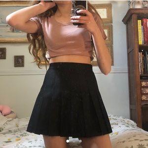 XS Black American Apparel Tennis Skirt
